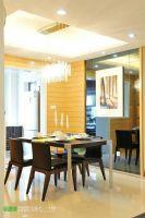 后现代风格滨江世贸花园90平两居室现代餐厅装修图片