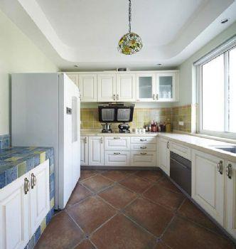 170平地中海复式风效果图地中海厨房装修图片