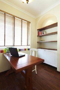 170平地中海复式风效果图地中海书房装修图片
