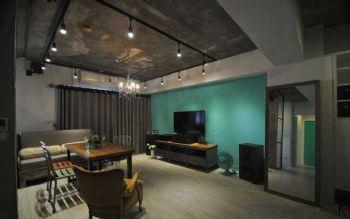 72平简约混搭装修案例简约客厅装修图片