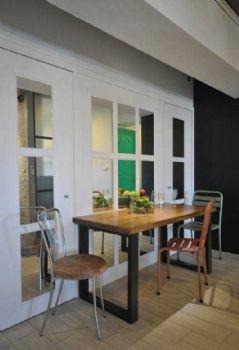 72平简约混搭装修案例简约餐厅装修图片