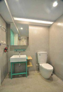 72平简约混搭装修案例简约卫生间装修图片
