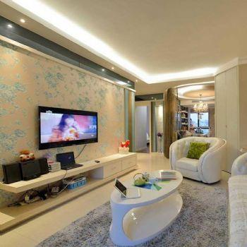 84平简欧两居装修案例欣赏简约客厅装修图片