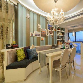 84平简欧两居装修案例欣赏简约餐厅装修图片