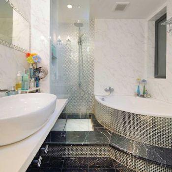 84平简欧两居装修案例欣赏简约卫生间装修图片