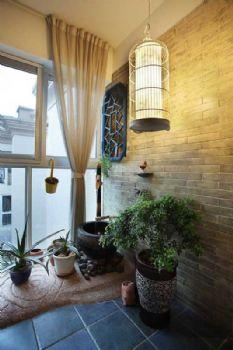 绿意满眼的阳台布局设计案例现代阳台装修图片