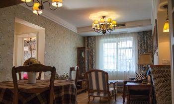 110平二居美式风装修案例欣赏美式餐厅装修图片