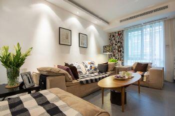 125平三居现代风演绎简洁美家现代客厅装修图片