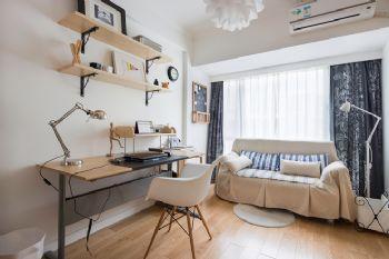 125平三居现代风演绎简洁美家现代书房装修图片