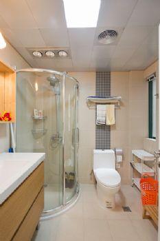125平三居现代风演绎简洁美家现代卫生间装修图片