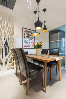 125平三居现代风演绎简洁美家现代餐厅装修图片