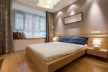 125平三居现代风演绎简洁美家现代卧室装修图片