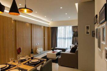 62平现代两居风格装修案例现代客厅装修图片