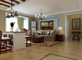 90平二居简欧风设计图片简约客厅装修图片