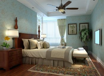 90平二居简欧风设计图片简约卧室装修图片