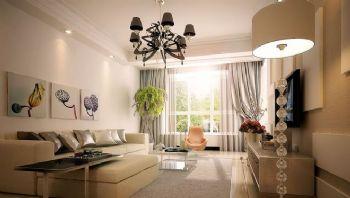 120平二居现代风装修图片现代客厅装修图片