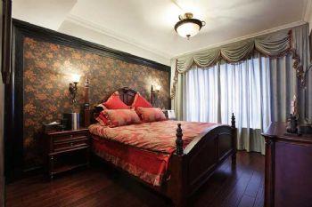 106平中式风两居装修图片中式卧室装修图片