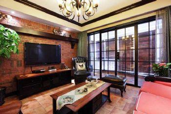 106平中式风两居装修图片中式客厅装修图片