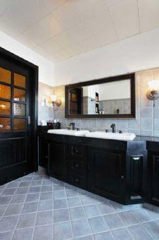106平中式风两居装修图片中式卫生间装修图片