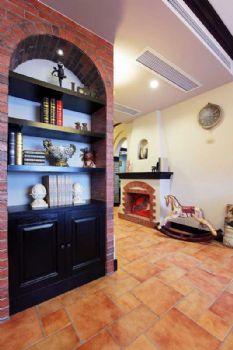 106平中式风两居装修图片中式过道装修图片