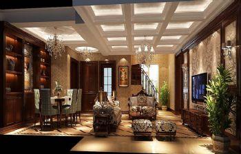 180平别墅简欧风装修效果图简约客厅装修图片