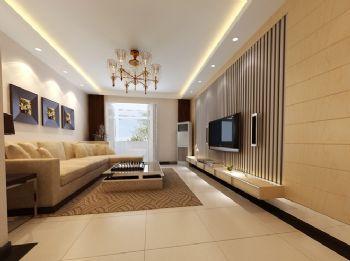 89平三居现代风格案例设计现代客厅装修图片