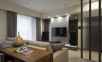 90平简欧两居设计图片简约客厅装修图片