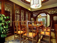 金科·天籁城中式风四居室装修案例中式餐厅装修图片