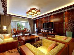 金科·天籁城中式风四居室装修案例中式风格大户型
