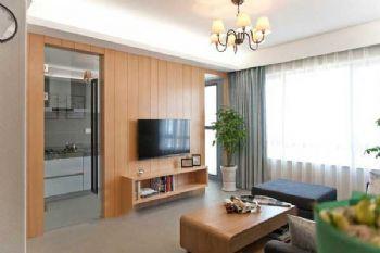 96平简约婚房装修案例客厅装修图片