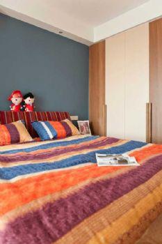 96平简约婚房装修案例卧室装修图片