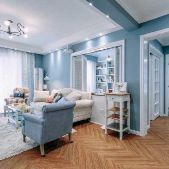 88平北欧两居装修案例欣赏欧式客厅装修图片