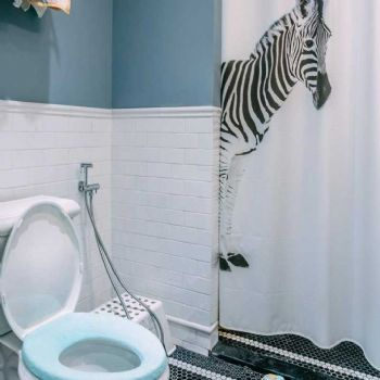 88平北欧两居装修案例欣赏欧式卫生间装修图片