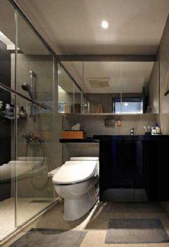 82平简约原木两居装修案例简约卫生间装修图片