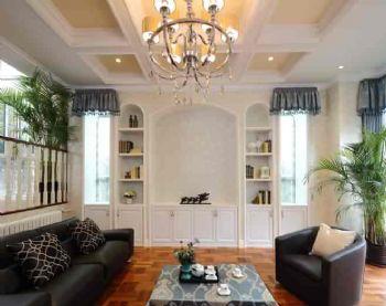 260平美式别墅风装修案例美式客厅装修图片