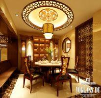 三利宅院中式风格案例中式餐厅装修图片