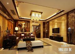 三利宅院中式风格案例中式客厅装修图片