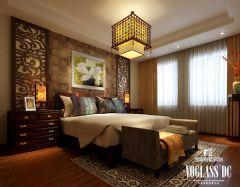 三利宅院中式风格案例中式卧室装修图片