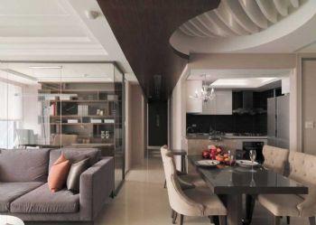 122平欧式风大户型装修效果图欧式餐厅装修图片