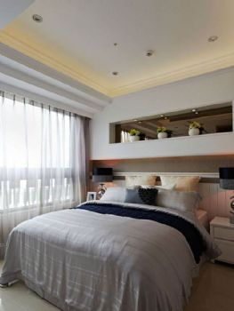 132平欧式风装修案例欣赏欧式卧室装修图片