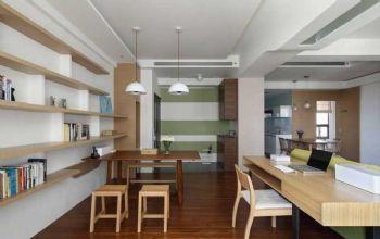 102平北欧风大户型装修案例餐厅装修图片