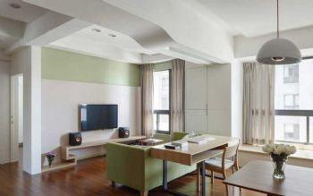102平北欧风大户型装修案例客厅装修图片
