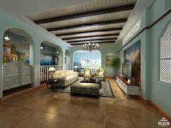 雅居乐香草上地中海风格案例地中海客厅装修图片