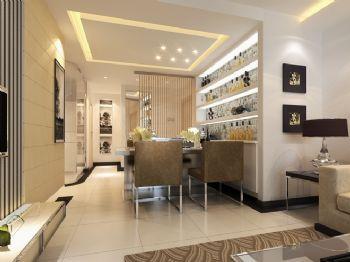 89平三居现代风格案例现代餐厅装修图片