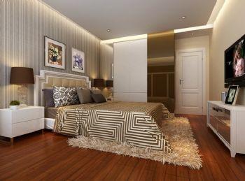 89平三居现代风格案例现代卧室装修图片