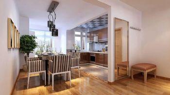 132平三居现代风装修设计图现代餐厅装修图片