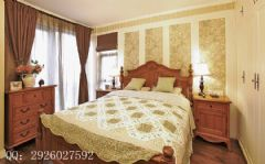 125平米美式大户型装修案例美式卧室装修图片