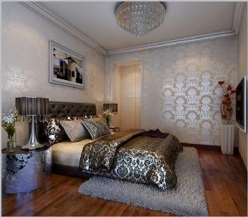 85平二居现代风装修案例现代卧室装修图片