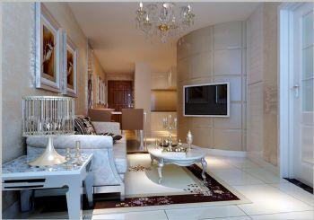 85平二居现代风装修案例现代客厅装修图片