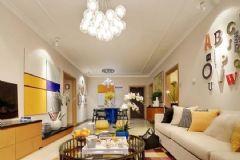 帝景海岸现代简约中户型装修案例现代简约客厅装修图片